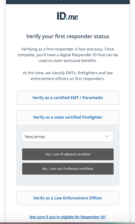 Why can\'t I verify using my ProBoard Certification? – ID.me Support