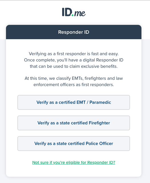 how do i verify my first responder status? – id support